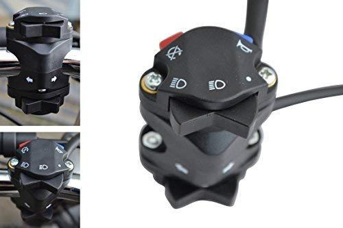 Motocross Enduro Moto Luz Amplificador Kill Intermitente Indicador Interruptor de 22mm 7/8