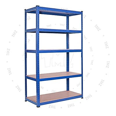 (1500 x 700 x 300)mm heavy duty boltless metal steel shelving shelves storage unit Industrial produced by TMZ © - quick delivery from UK.