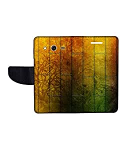 KolorEdge Printed Flip Cover For Samsung Galaxy Core ll Multicolor - (45KeMLogo12016SamCore2)