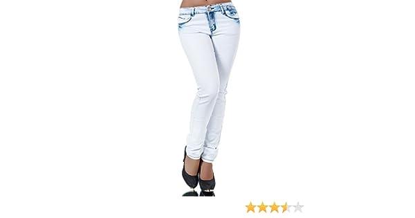 L194 Damen Jeans Hose Damenjeans High Waist Röhrenjeans Röhrenhose Röhre Skinny
