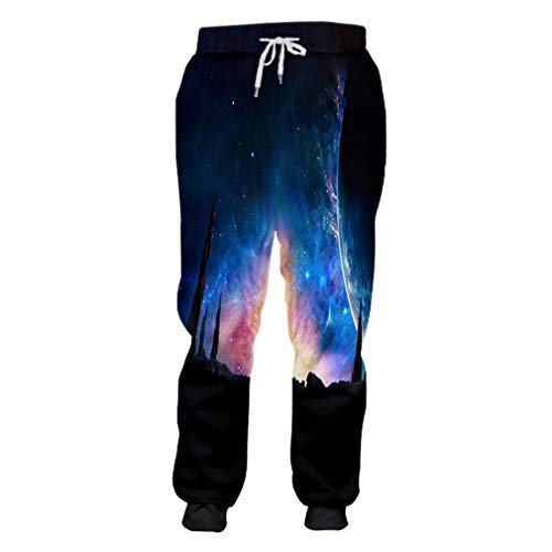 3D Blue Galaxy Space Jogginghose Männer/Frauen Cool Printed Trainingshose Herbst Herbst Winter Casual Style Full Length Pants Blue Galaxy Space XL