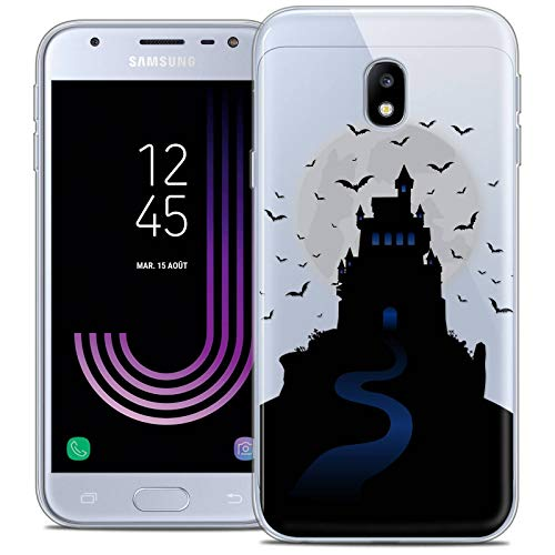 Caseink Hüllle für Samsung Galaxy J3 2017 J320 (5 Handyhülle Back case [Crystal Gel HD Sammlung Halloween Design Castle Nightmare - Flexibel - Ultra Fin - Auf Wunsch frisch in Frankreich gedruckt]