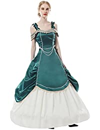 Womens Medieval Victorian Fancy Dresses With Crinoline Palace Royal Masquerade Vintage Costume