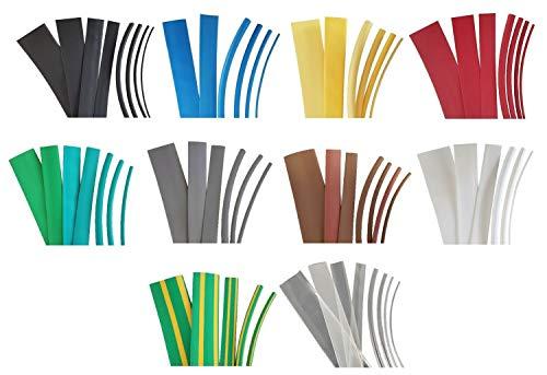 netproshop Schrumpfschlauch 9,5mm (2:1), Auswahl (2 Meter), Farbe:Schwarz