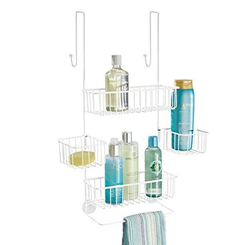 mDesign Duschregal ohne Bohren ? Duschablage für Shampoo, Duschgel, Waschlappen etc. ? praktische...