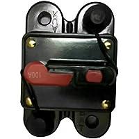 DoMoment 50A 60A 80A 100A 125A 150A 200A 250A Opcional Fusible de Interruptor de Circuito de Audio para automóvil en línea para protección 12V SKCB-01-100A