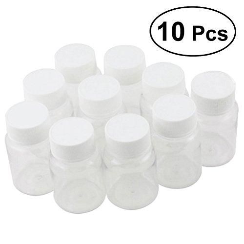 ULTNICE 10 Stück 80 ml Medizin Flaschen Pillendose mutifunktions leere Behälter Flasche