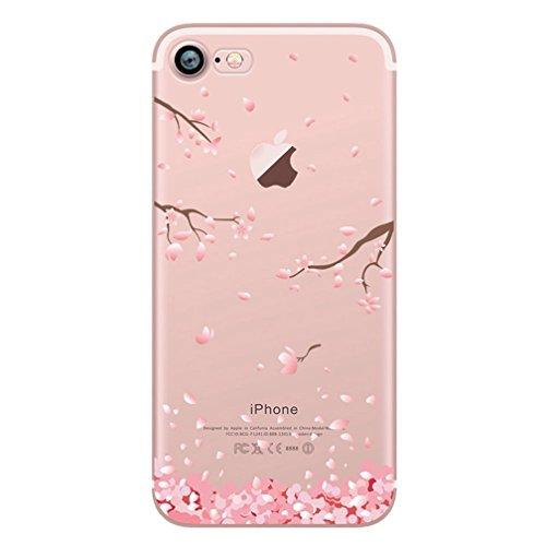 Cover iPhone 6/6s, iphone 6/6s Custodia,Morbido TPU Cover Cristallo limpido Trasparente Slim Anti Scivolo Custodia Protezione Cover Case for Apple(Dente di leone ) Fiore di prugne