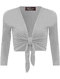 Mix lot neue Damen Langarm binden Bolero Schulterzucken Frauen binden Strickjacke wickeln oben Größe 36-42