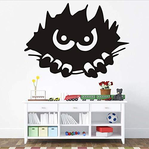 WFYY Halloween Party Monster Spähen Abziehbilder Moderne Wandaufkleber Für Kinder Schlafzimmer Dekoration Wasserdicht Vinyl Gemalt Zubehör