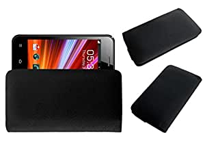 Acm Rich Leather Soft Case For Celkon A87 Mobile Handpouch Cover Carry Black