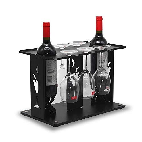 FECTY-Weinregal Weinregal-Dekoration-Becher-Halter Umgedrehtes Haushalts-Wein-Anzeigen-Regal-Eisen-Kunst Indoor-Handwerk