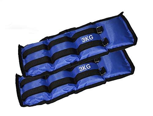 Coppia di pesi per caviglie e polsi fitness jogging palestra. media wave store (3 kg)
