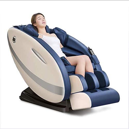 BUDAOWENG 3D Massagestuhl-Vollautomatischer Smart Massagestuhl, Professional Relax Shiatsu Sessel - Schwerelosigkeit, Magnet, Ionisator und Wärmesystem, A [Energieklasse A],Blue,us