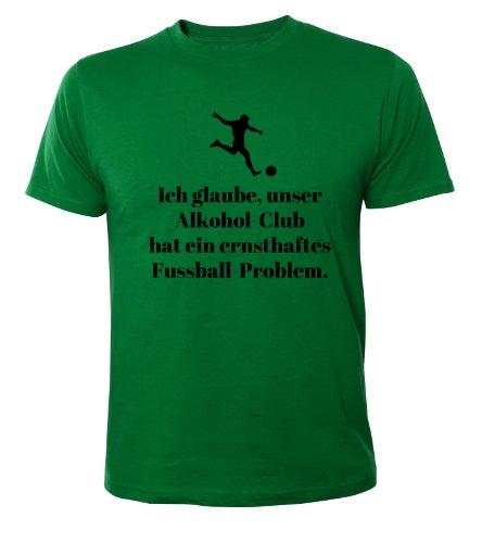 Mister Merchandise Cooles Fun T-Shirt Unser Alkoholclub hat ein Fußball Problem Grün
