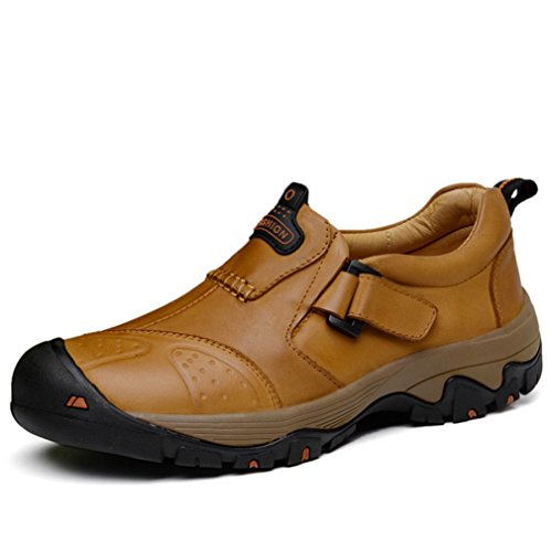 XI-GUA Scarpe da camminata ed escursionismo uomo cachi