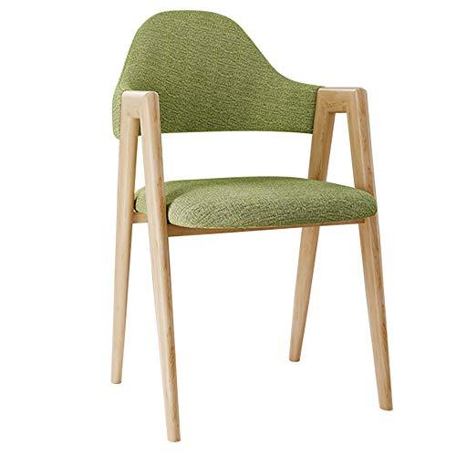 Yzpyz poltroncina soggiorno/camera da letto con braccioli, sedia da ufficio moderna struttura moderna con gambe in legno massello seduta imbottita in velluto facile da montare verde (colore : a)