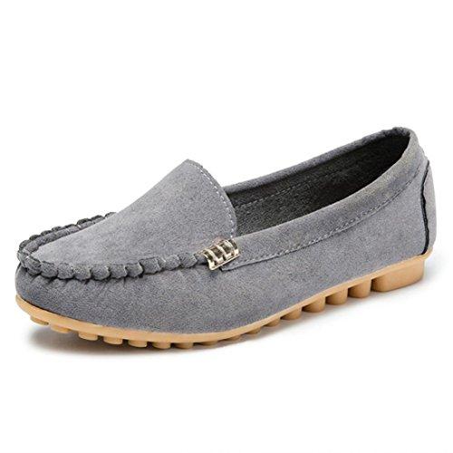 ❤️ Amlaiworld Zapatos Planos de Mujer Zapatillas de Deporte Cómodas para Mujeres Zapatos Cómodos para Damas Zapatos Deportivos sin Cordones Bailarinas Mocasines Calzado (40, Gris)