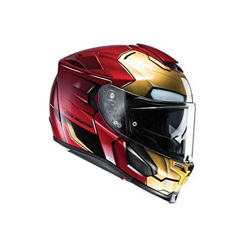 Casco integral con parasol y disco antivaho RPHA 70 Iron Man Homecoming Marvel de HJC (XXS (52/53))