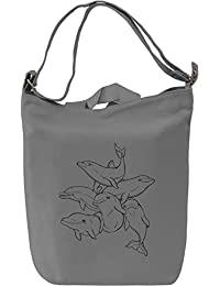 Playful sea dolphins Bolsa de mano Día Canvas Day Bag| 100% Premium Cotton Canvas| DTG Printing|