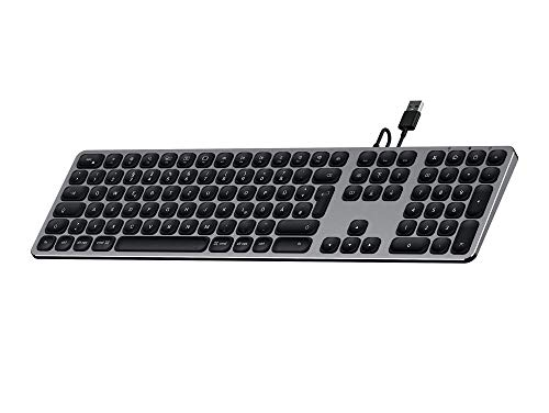 SATECHI USB-Keyboard mit numerischem Keypad aus Aluminium kompatibel mit iMac Pro, 2017 iMac, 2016 iMac und andere (Deutsch, Space Grau) - Usb-anschluss Ipad-tastatur Mit