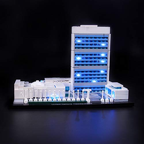 LIGHTAILING Conjunto de Luces (Architecture United Nations Headquarters) Modelo de Construcción de Bloques - Kit de luz LED Compatible con Lego 21018 (NO Incluido en el Modelo)