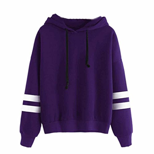 Lila Mädchen Pullover (Xinan Damen Hoodie Langarm Sweatshirt Jumper mit Pullover Bluse (S, ◕‿◕ Lila))