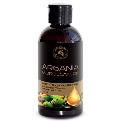 Huile de Argan 250ml - Spinosa Kernel - Morocco - 100% Pur & Natural - Meilleure Huile de Cheveux - Bons avantages pour la Peau - Cheveux - Visage - Soins du corps - Huiles Arganées