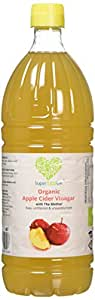 SuperfoodUK 1 Litre (1000ml) - Raw Organic Apple Cider Vinegar with The Mother, Cloudy ACV, Raw, Unfiltered, Unpasteurized, Vegan and Vegetarian Friendly 1 Litre