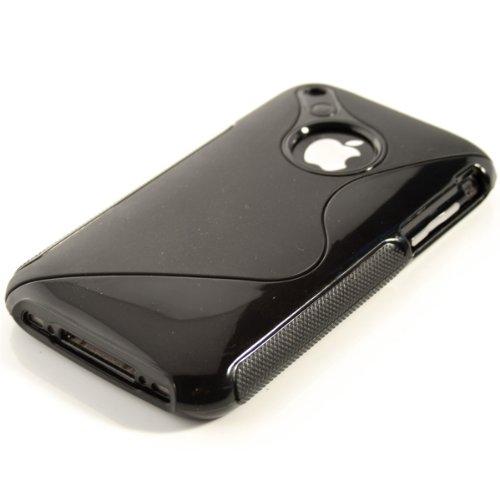 kwmobile Hülle TPU Silikon Case für Apple iPhone 3G / 3GS mit S-Line Design - Handy Cover Schutzhülle in Schwarz