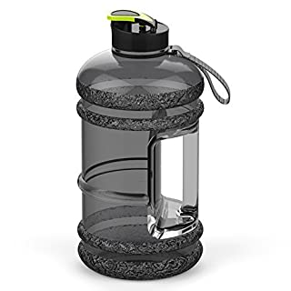 Addfun® 2.2 Litre Large Sport Water Bottle With Drink Cap and Carry Handle,BPA Free Leakproof,Ideal for Gym|Dieting|Bodybuilding|Outdoor Sports|Hiking|Office