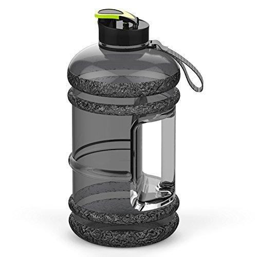 Addfun®Gute Qualität 2,2 Liter Groß Sport Wasserflasche Mit Trinken Mütze und Tragegriff, BPA frei Auslaufsicher,Ideal für Gym|Diät|Bodybuilding|Outdoor Sport|Wandern|Büro