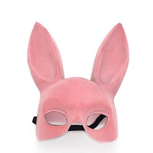 Shuda Hasenohren Maske Damen Halloween Verkleidung Maskerade Kostüme Partei Maskerade DIY Partei Kleid ,Pink (Kostüm Damen Halloween Diy)