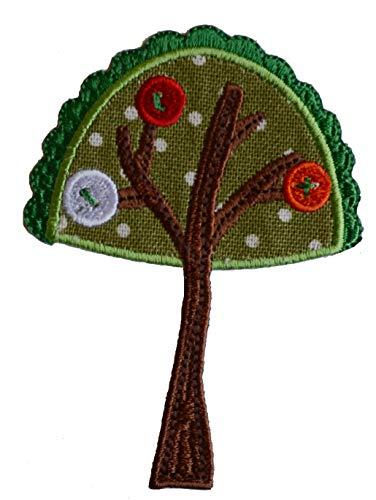 TrickyBoo 2 Aufbügler Baum 7X9cm Heuschrecke 7X6cm Set Aufnäher Flicken Applikationen zum Ausbessern von Kinder Kleidung mit Design Zürich Schweiz für Deutschland und Österreich (Heuschrecken Für Schildkröten)
