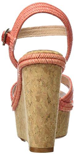Cuple Sandalia Trenza Melon, Sandales avec sangle cheville femme Coral (Melon)