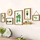 LNDDP Photo Frame Wall 5 Sets - Set Fotografico, con Orologi Photo Wall - Soggiorno Combinato Combinazione di pareti Irregolari Foto da Parete Design alla Moda (Colore: 2#)