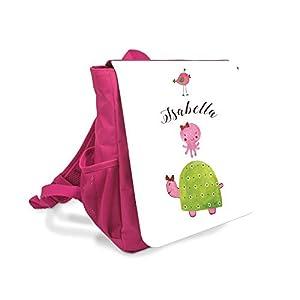 Kinder-rucksack für Mädchen mit Namen u. Schuldkröte