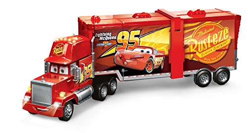 Disney Pixar Cars Super Track Mack Playset, Transforming Truck with Lights  and Sounds