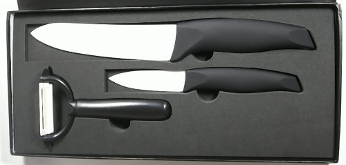 Set de couteaux en céramique 3 pièces dans une boîte