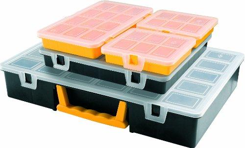art-plast-3060-kit-porta-minuteria-in-plastica-nero-giallo-trasparente