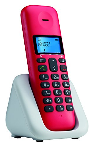 Motorola T301Plus Telefono Cordless, Rosso