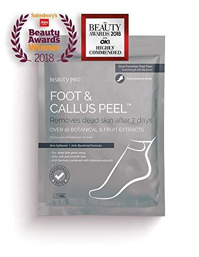 Exfoliante para pies y durezas, de BeautyPro, con más de 16 extractos botánicos y de frutas