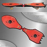 Hignful 2 Rueda Junta Caster Board, Completo Monopatines Skateboard Estándar con Colorido Que Destella Ruedas for Principiantes De Arranque for Niños Niños Niñas Adolescente-30.7X11 Inch