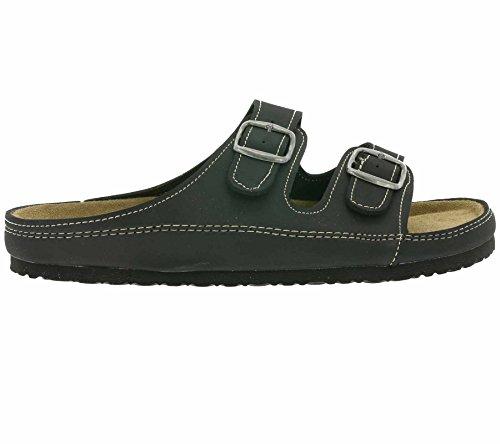 Bio life Schuhe Herren Pantoletten Hausschuhe Navy 48022 596 Schwarz