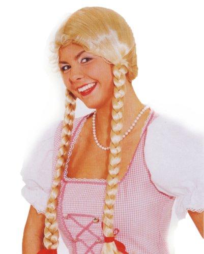 Preisvergleich Produktbild Liesel blond Perücke Langhaar Zopf Zöpfe Karneval Kostüm Verkleidung Damen Oktoberfest KBV