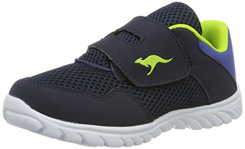 KangaROOS Unisex-Kinder Inlite 4003 Low-Top, Blau (Navy/Lime), 23 EU (Kleinkind Girls Sneakers)