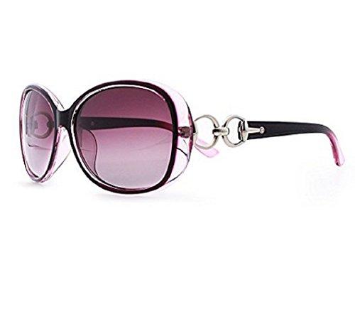 M2-Viola-Sonnenbrille-Frauen-Big Retro Vintage polarisierte (Film Tv Kostüme Weibliche Und)