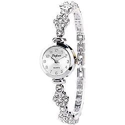 Sunnywill LVPAI Frauen Silber Luxus Schöne Mode Herz Anhänger-Uhren für Frauen Mädchen Damen