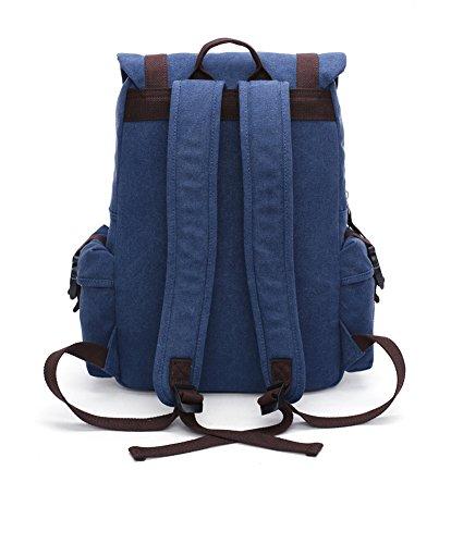 15,6 Zoll Canvas Notebooktasche Laptop-Tasche Rücksack Passend für bis zu 15,6 Gaming Laptops für Dell, Asus, MSI Gaming Rücksack Bergsteigen Tasche 1 (Blau) Blau