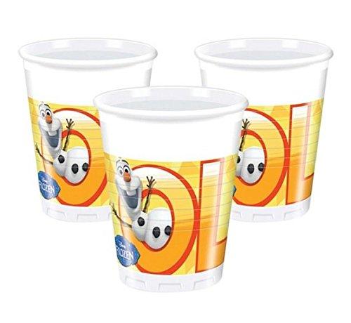 Olaf frozen il regno di ghiaccio 8 bicchieri